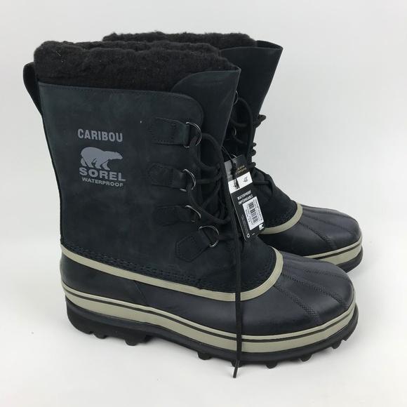 555f5cfe1eb New Men's SOREL Caribou Waterproof Winter Boots NWT